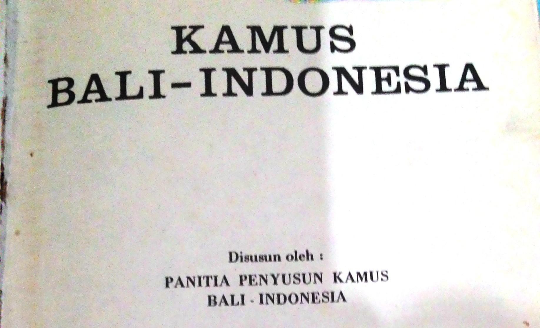 Terjemahan Bahasa Bali